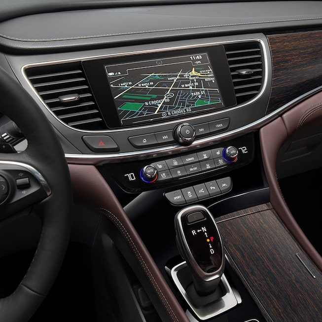 Interior gallery image showing of the 2019 Buick LaCrosse Avenir full-size luxury sedan.