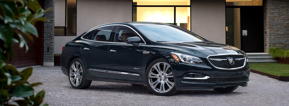 Masthead image for the key features page featuring the 2019 Buick LaCrosse Avenir full-size luxury sedan.