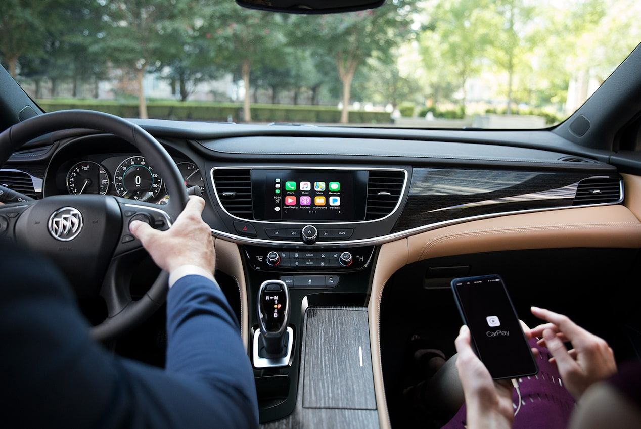 Image showing connectivity features of the 2019 Buick LaCrosse full-size luxury sedan.