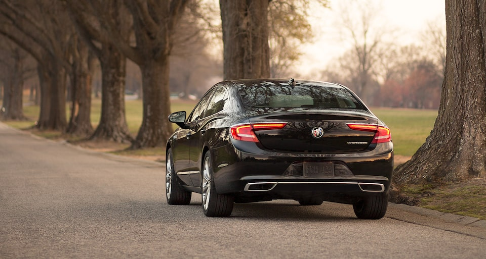 Image showing performance features of the 2019 Buick LaCrosse full-size luxury sedan.