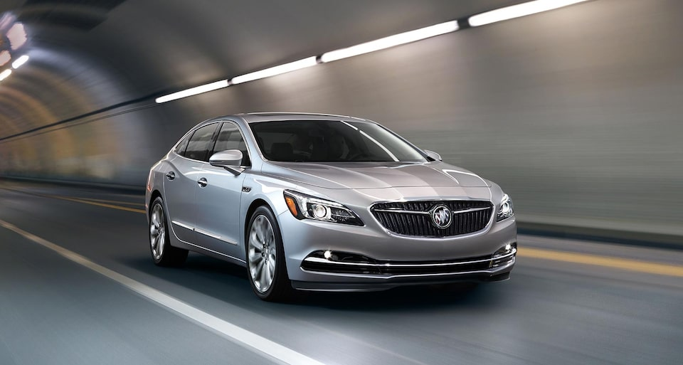 Image showing safety features of the 2019 Buick LaCrosse full-size luxury sedan.