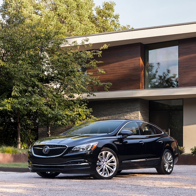 Exterior gallery image of the 2019 Buick LaCrosse full-size luxury sedan.