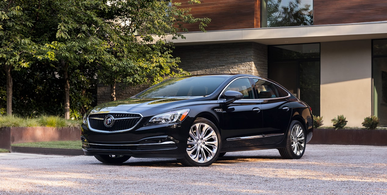 Image showing key features of the 2019 Buick LaCrosse full-size luxury sedan.