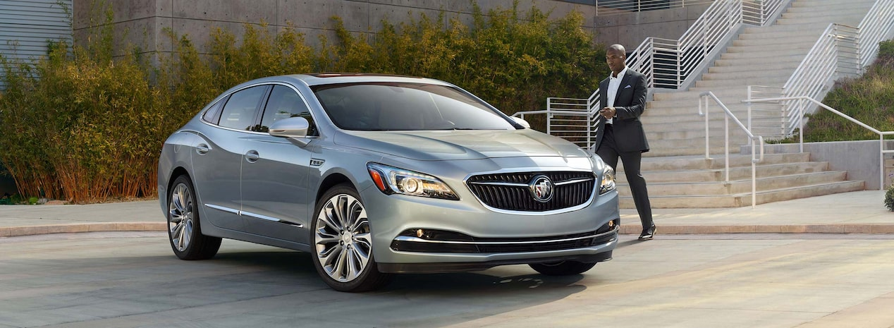Masthead image for the model details page featuring the 2019 Buick LaCrosse full-size luxury sedan.
