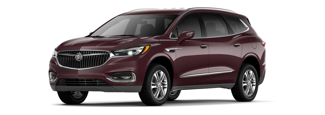 2019 Buick Enclave mid-size-luxury SUV shown in black cherry metallic.
