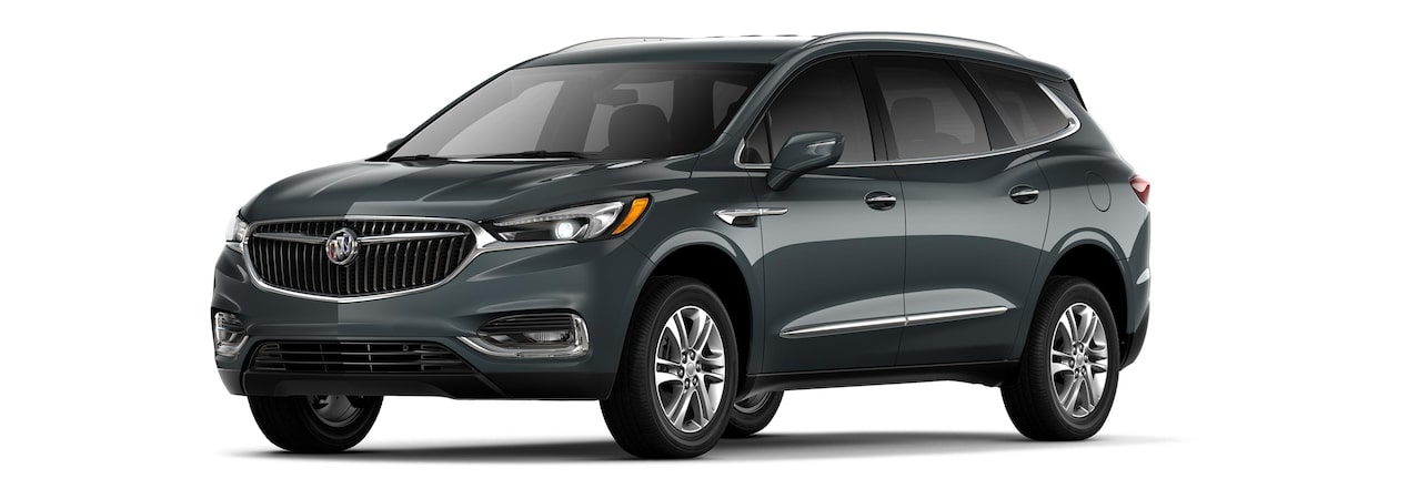 2019 Buick Enclave mid-size-luxury SUV shown in dark slate metallic.
