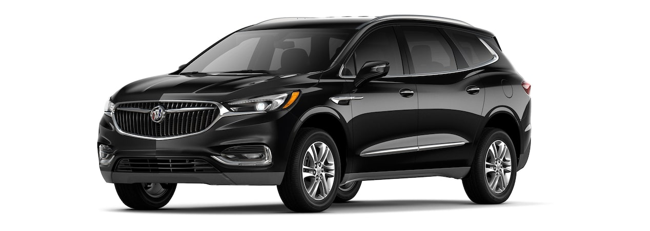 2019 Buick Enclave mid-size-luxury SUV shown in ebony twilight metallic.