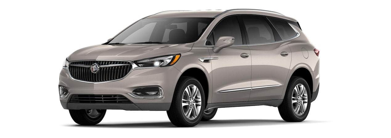 2019 Buick Enclave mid-size-luxury SUV shown in pepperdust metallic.