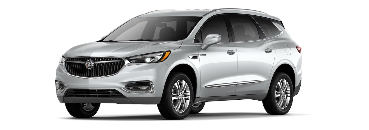 2019 Buick Enclave mid-size-luxury SUV shown in quicksilver metallic.