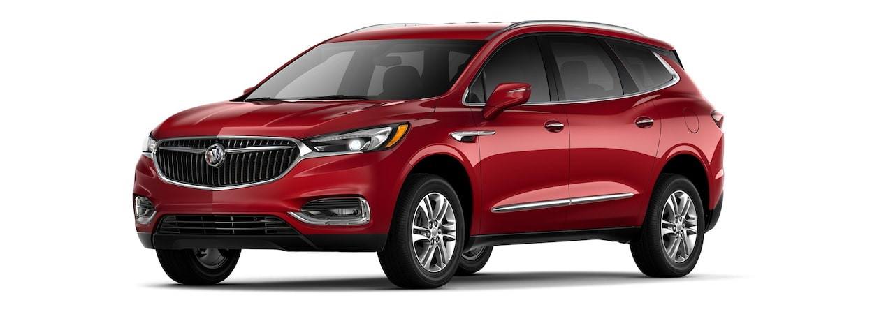 2019 Buick Enclave mid-size-luxury SUV shown in red quartz tintcoat.