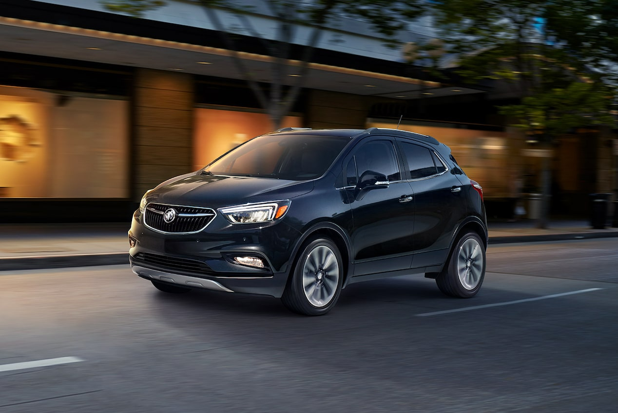 Image showing saftey features of the 2019 Buick Encore small luxury SUV.