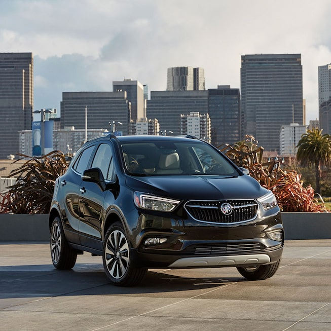Exterior gallery image of the 2019 Buick Encore small luxury SUV.