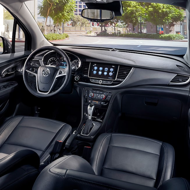 Interior gallery image of the 2019 Buick Encore small luxury SUV.