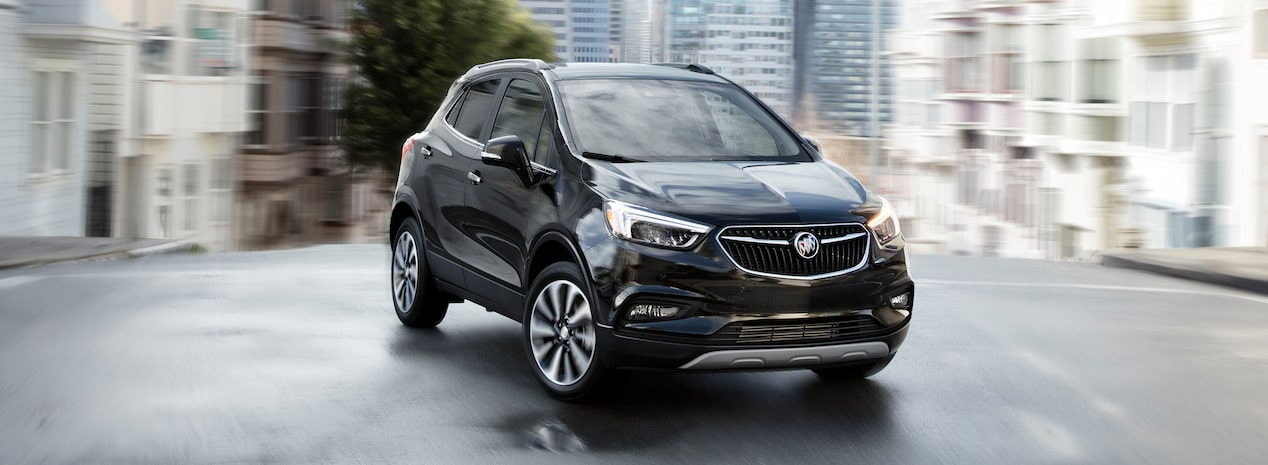 Masthead image for the model details page featuring the 2019 Buick Encore small luxury SUV.