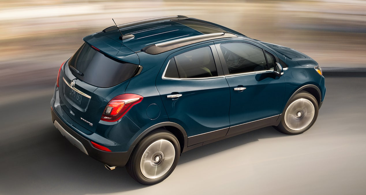 Image showing key features of the 2019 Buick Encore small luxury SUV.