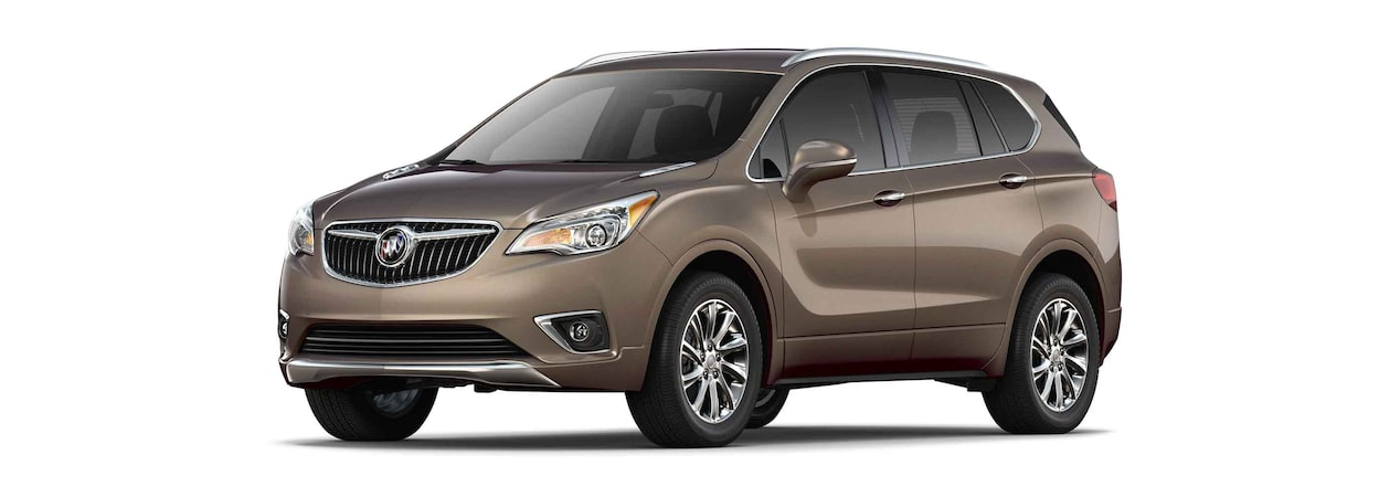 2019 Buick Envision compact luxury SUV shown in bronze alloy metallic.