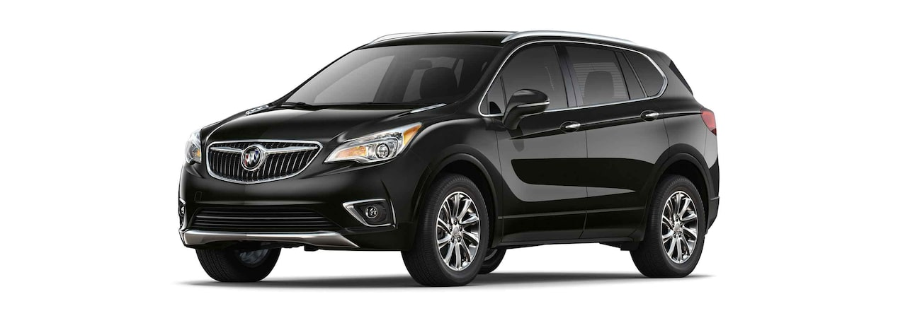 2019 Buick Envision compact luxury SUV shown in ebony twilight metallic.