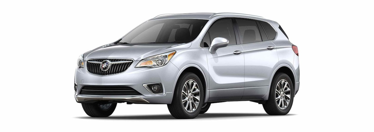 2019 Buick Envision compact luxury SUV shown in galaxy silver metallic.