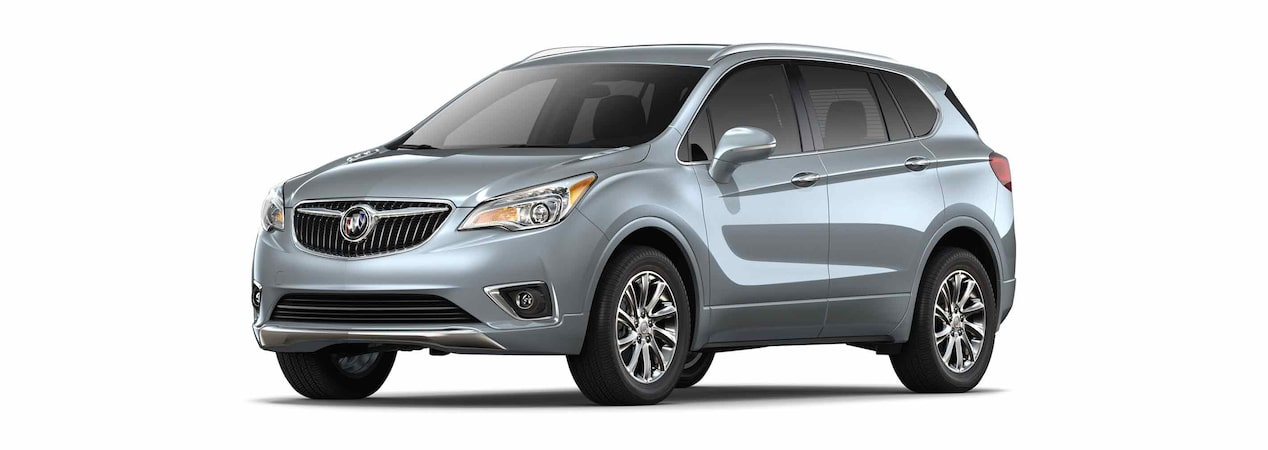 2019 Buick Envision compact luxury SUV shown in satin steel gray metallic.