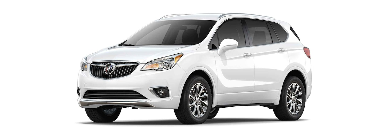 2019 Buick Envision compact luxury SUV shown in summit white.