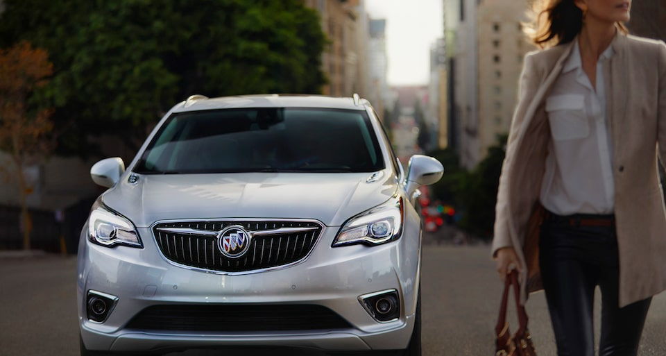 Image showing exterior features of the 2019 Buick Envision compact luxury SUV.