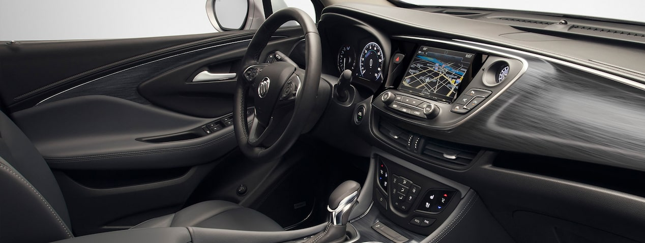 Masthead image for the interior features page featuring the 2019 Buick Envision compact luxury SUV.