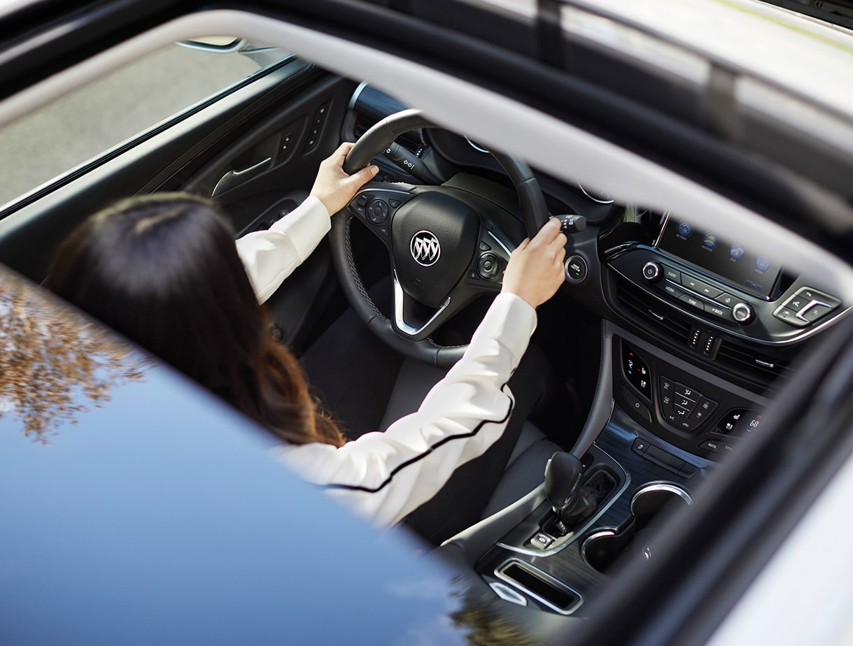 Image showing performance features of the 2019 Buick Envision compact luxury SUV.