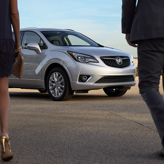 Exterior image of the 2019 Buick Envision compact luxury SUV.