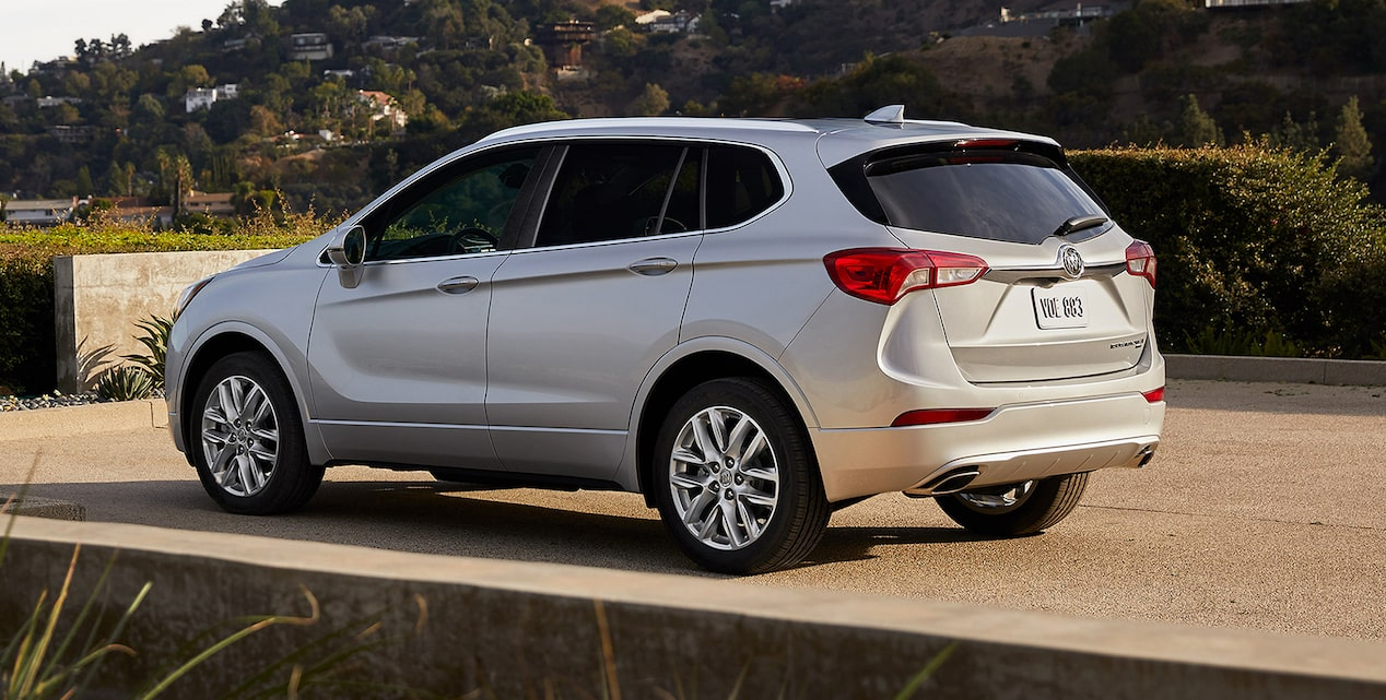 Image showing key features of the 2019 Buick Envision compact luxury SUV.