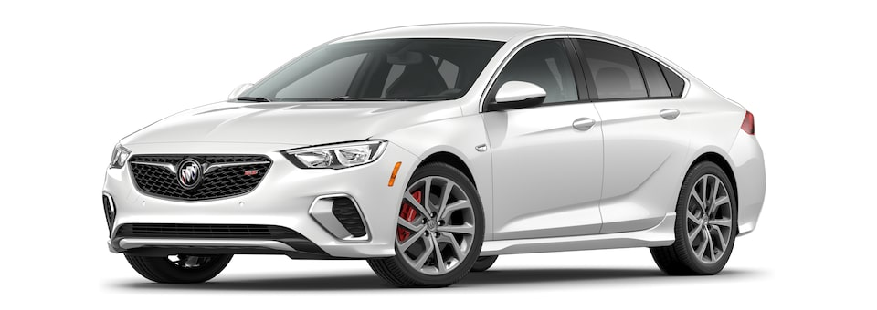 2020 Buick Regal GS Mid-Size Luxury Sedan in white frost tricoat