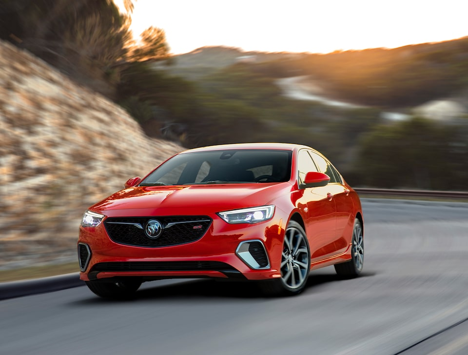 2020 Buick Regal GS Mid-Size Luxury Sedan: driving action front view