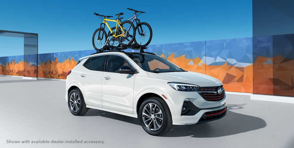 2020 Buick Encore GX Small Luxury SUV Sport Touring Bikes on Roof