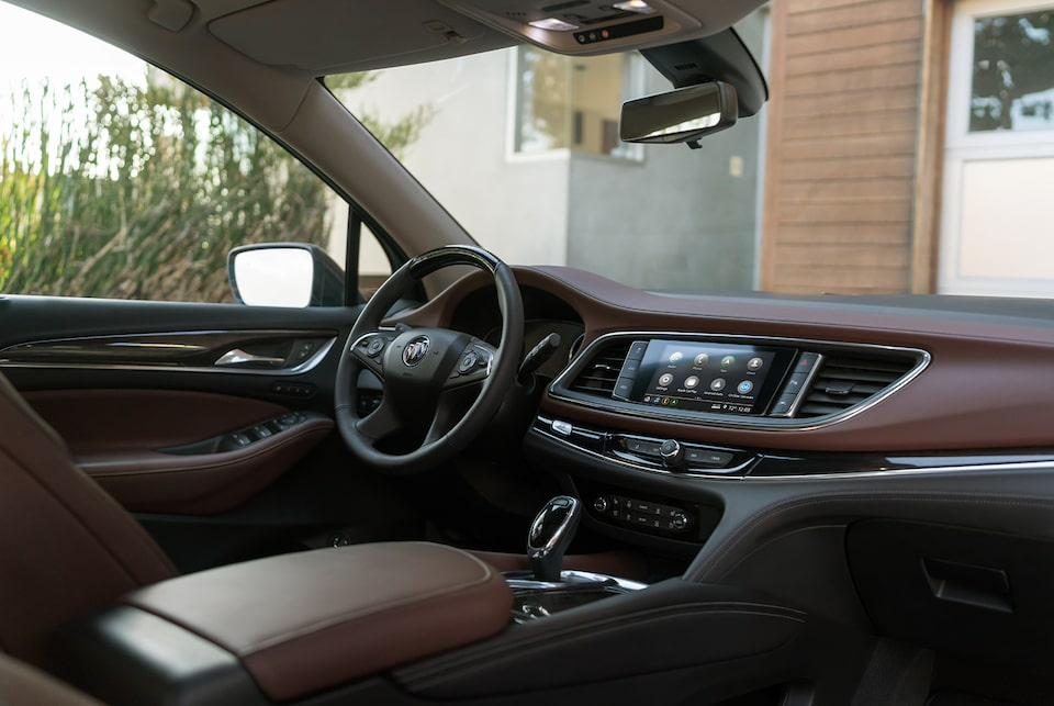 2020 Buick Enclave Avenir mid-size luxury SUV passenger side facing driver side interior view