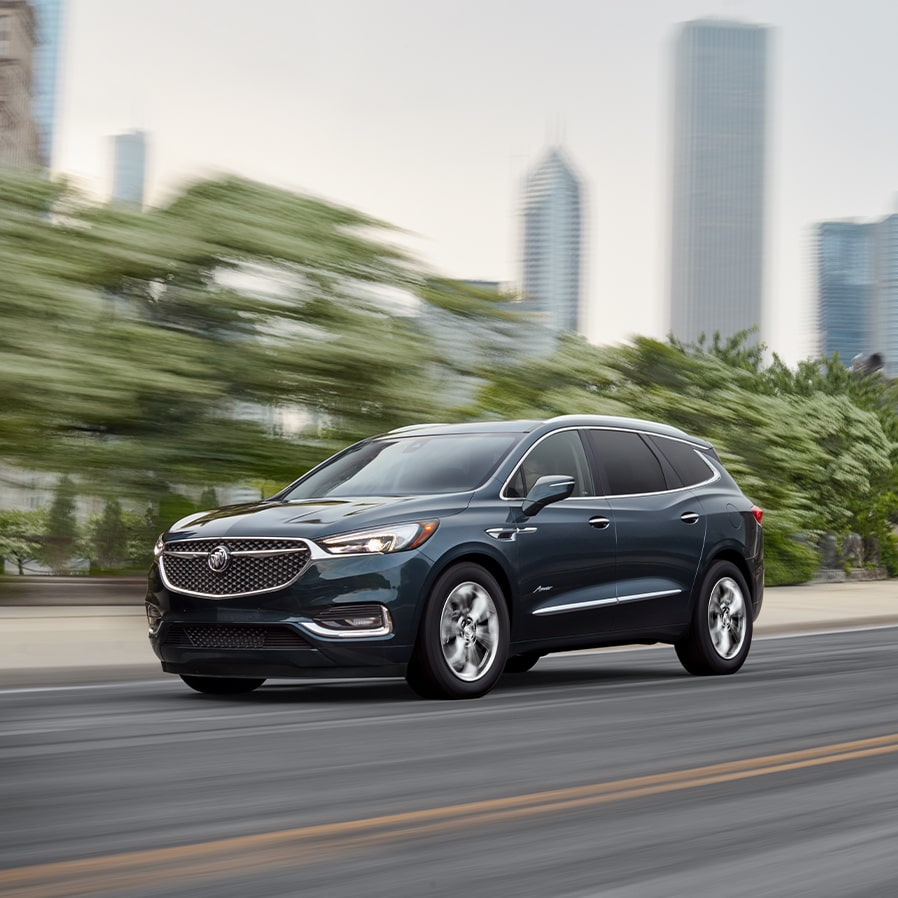 2020 Buick Enclave Avenir mid-size luxury SUV action city driving shot