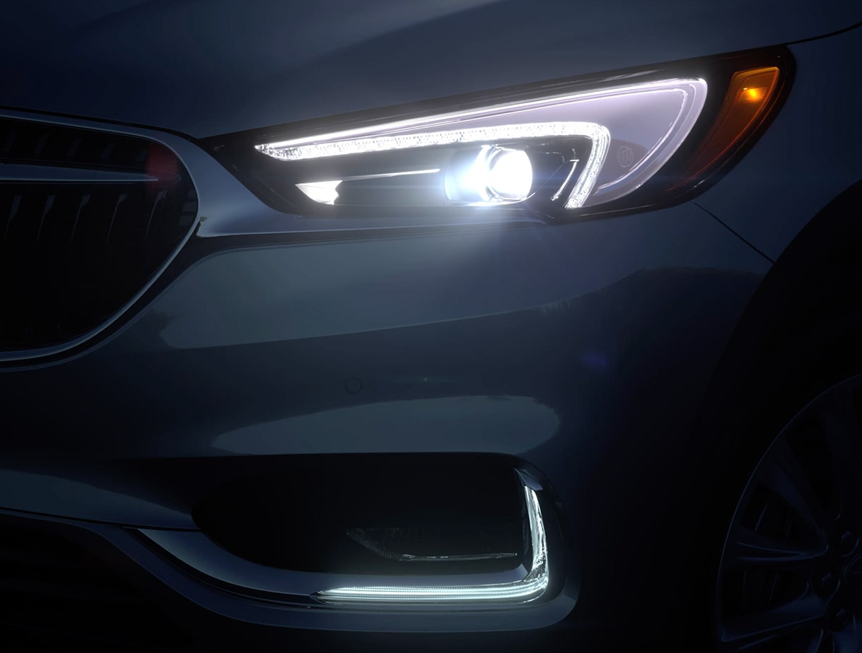 2020 Buick Enclave mid-size luxury SUV Exterior Features LED headlamps video still