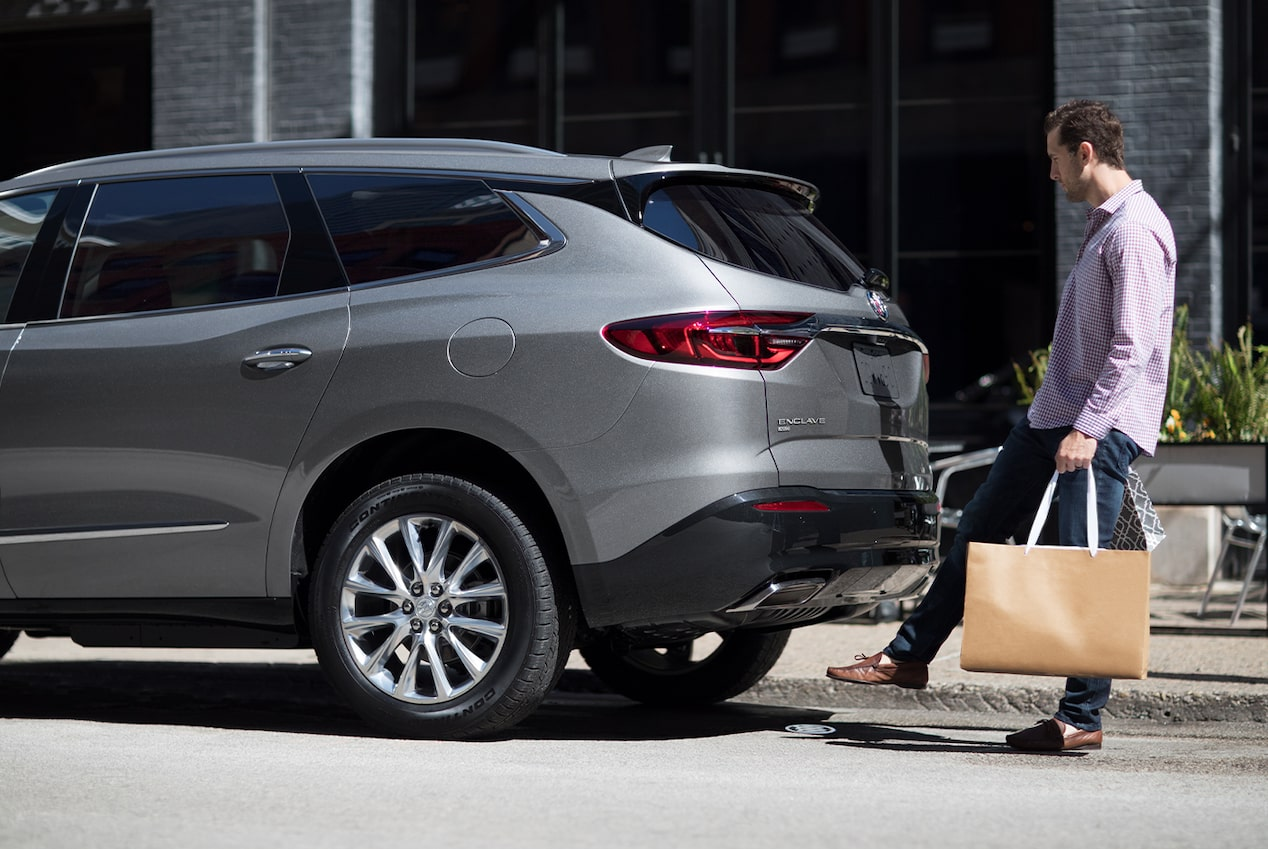 2020 Buick Enclave mid-size luxury SUV Exterior Features hands free liftgate