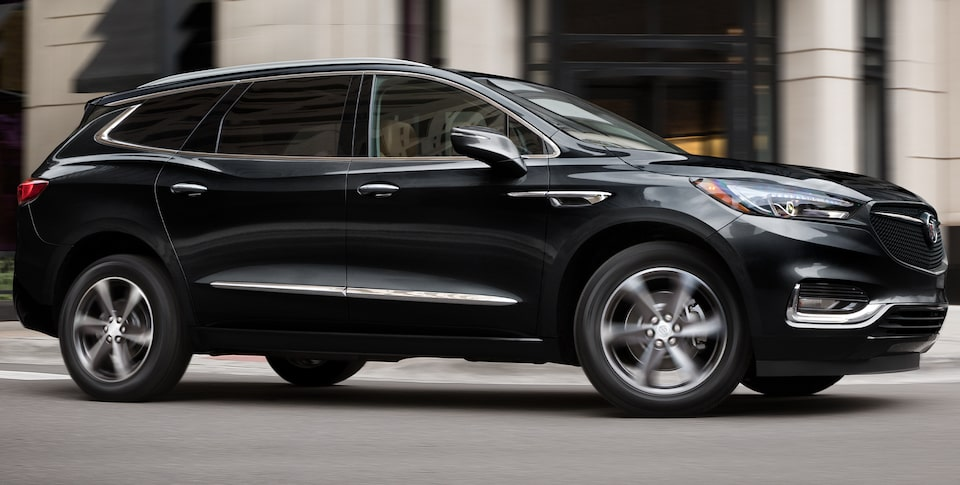 2020 Buick Enclave mid-size luxury SUV exterior new sport action shot