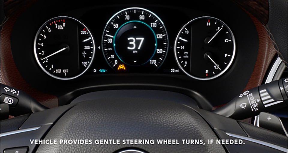 2020 Buick Enclave mid-size luxury SUV Safety Features Lane Departure Video Still