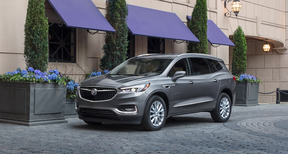 2020 Buick Enclave mid-size luxury SUV MOV Exterior front side shop image