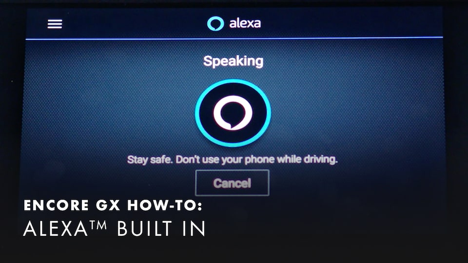 2020 Buick Encore Small Luxury SUV Built-in Amazon Alexa How-to Video