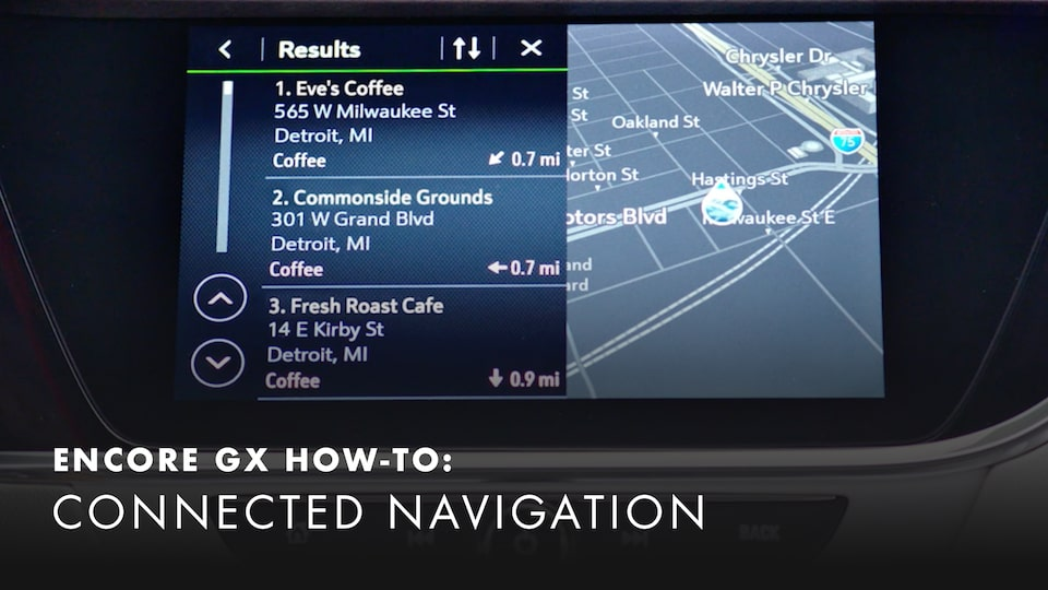 2020 Buick Encore Small Luxury SUV How-to Access Embedded GPS Navigation System Video