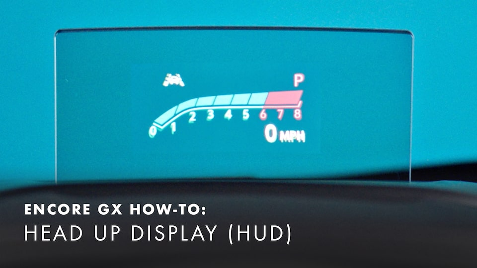 2020 Buick Encore Small Luxury SUV Heads up Display (HUD) How-to Video