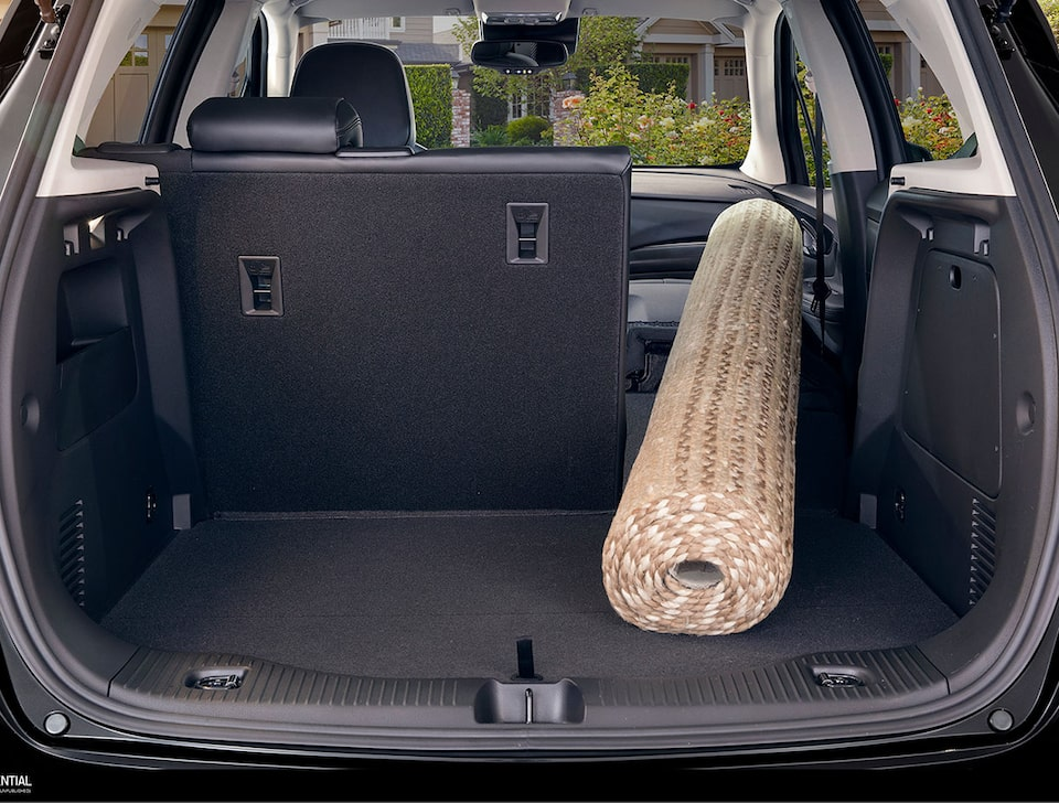 2020 Buick Encore Small Luxury SUV: cargo space with folded rear seat