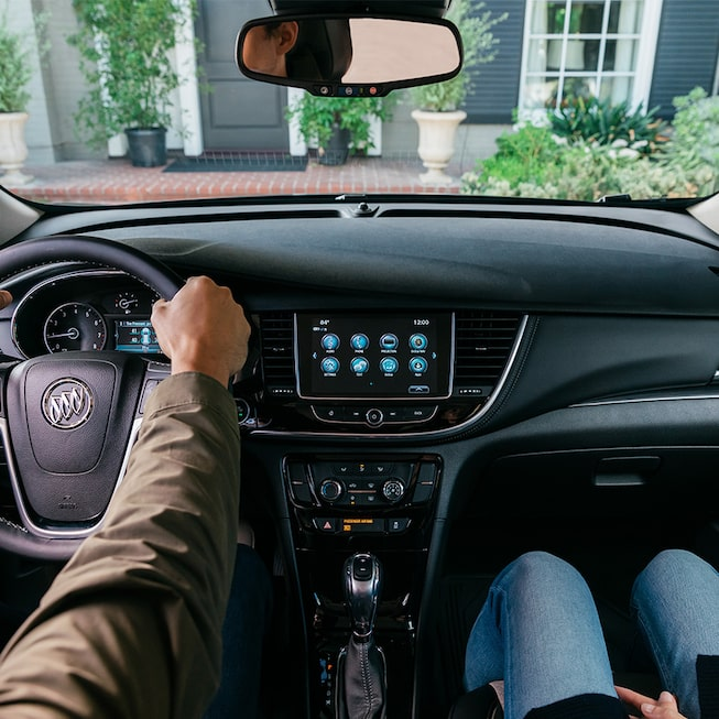 2020 Buick Encore Small Luxury SUV: front seat with sunroof view