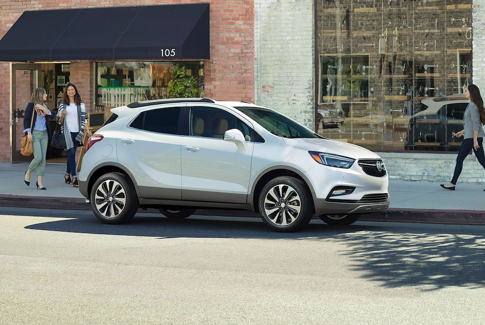 2020 Buick Encore Small Luxury SUV: exterior side angle