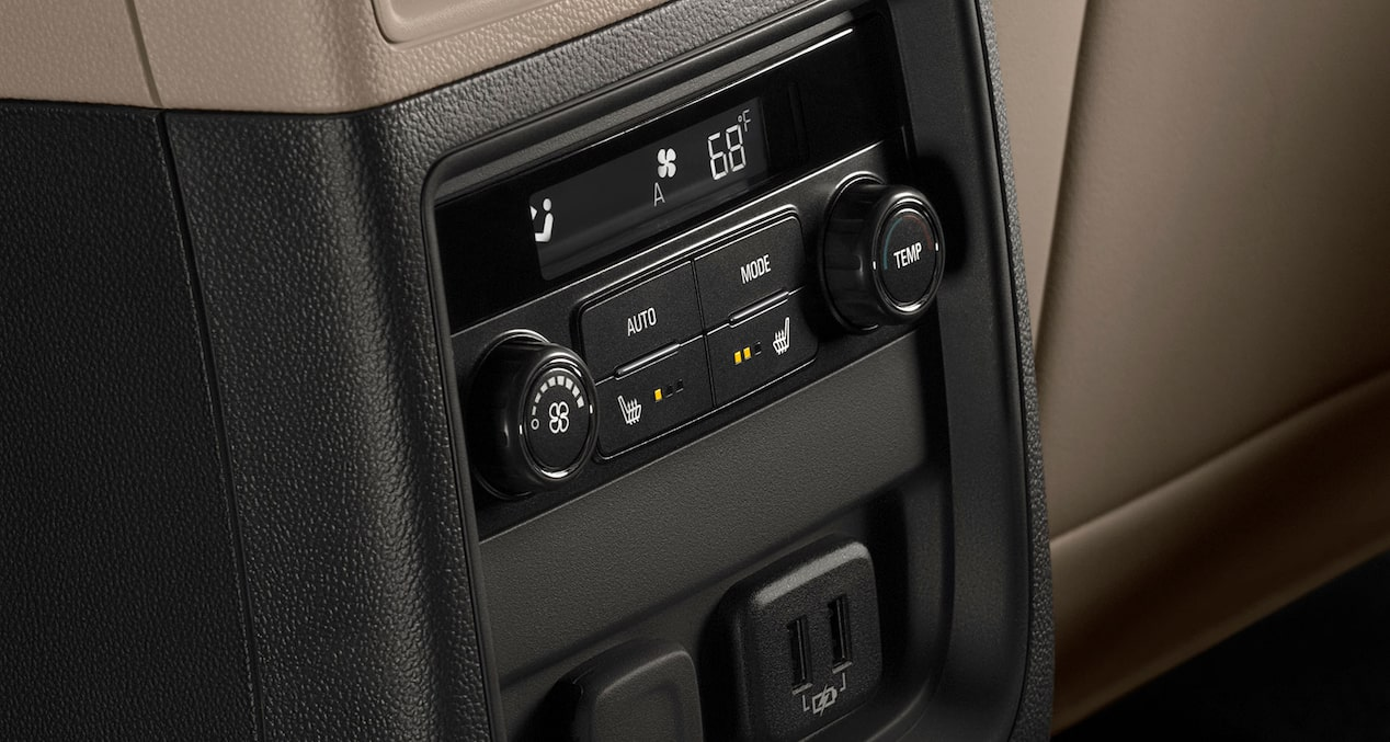 2020 Buick Envision Compact SUV Rear Interior Climate Controls