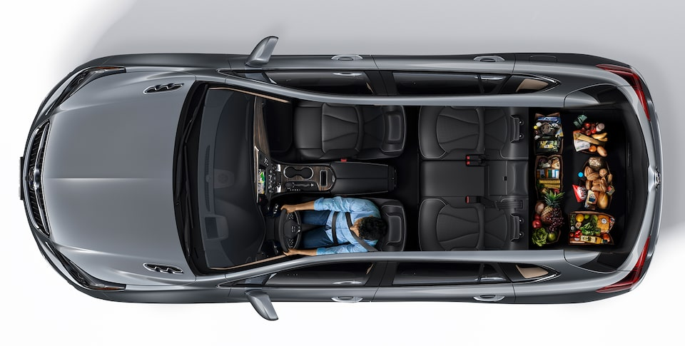 2020 Buick Envision Interior Seating and Cargo Space Aerial View: Groceries