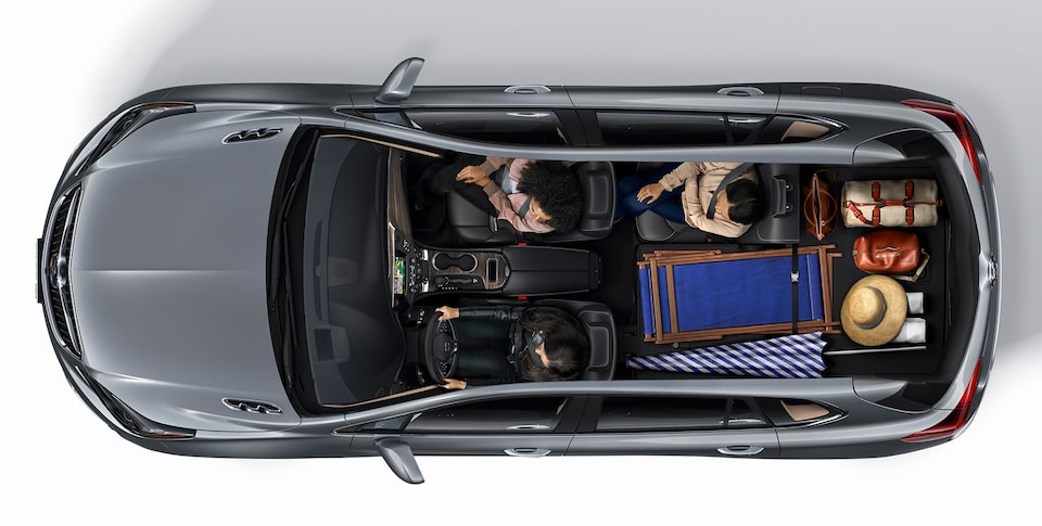 2020 Buick Envision Interior Seating and Cargo Space Aerial View: Beach Vacation
