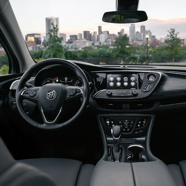 2020 Buick Envision Compact SUV Steering Wheel and Infotainment
