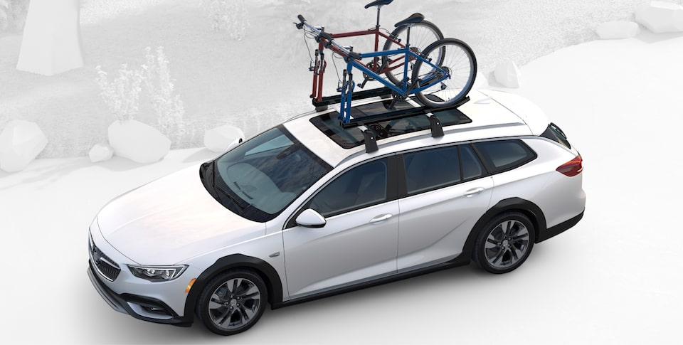 2020 Buick Regal TourX Luxury Wagon Roofrails with Bikes
